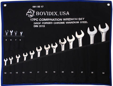 17 PC Combination Wrench Set, Metric