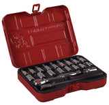 "1/4"" Dr. 21 PC Socket & Socket Bit Set, Metric"
