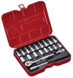 "1/4"" Dr. 21 PC Socket & Socket Bit Set, Inch"