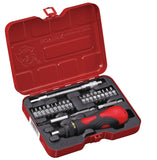 24 PC Ratchet Screwdriver & Bit Set