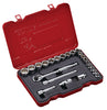 "3/8"" Dr. 23 PC Socket & Socket Accessories Set, Metric"