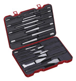 Flat Cold Chisel with Pin and Taper Punch Set, 18-Piece