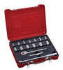 "1/2"" Dr. 16 PC Socket & Socket Accessories Set, Metric"