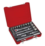 "1/2"" Dr. 23 PC Socket & Socket Accessories Set, Metric"