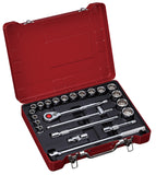 "1/2"" Dr. 23 PC Socket & Socket Accessories Set, Inch"