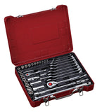 "1/4"", 1/2"" Dr. 39 PC Socket & Wrench Set, Metric"
