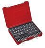 "1/4"" Dr. 50 PC Socket & Socket Bit Set, Metric"