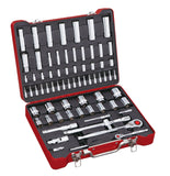 "1/4"", 1/2"" Dr. 71 PC Socket & Socket Bit Set, Inch"