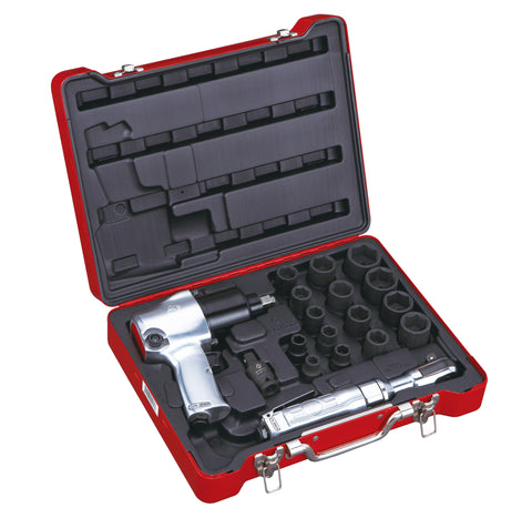 18 PC Air Tool Set, Metric