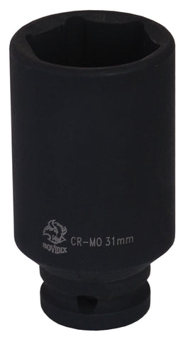 "1"" Dr. Impact Deep Socket, 6 PT, Metric"