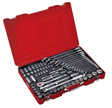 "1/4"", 1/2"" Dr. 74 PC Socket & Wrench Set, Inch"
