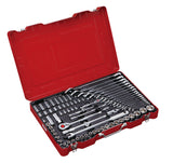 "1/4"", 1/2"" Dr. 81 PC Socket & Wrench Set, Metric"