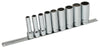 "Deep Socket Set Spherical, Metric, 3/8"" Dr. - 12 PCS"