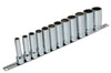 "Deep Socket Set Spherical, Inch, 3/8"" Dr. - 9 PCS"