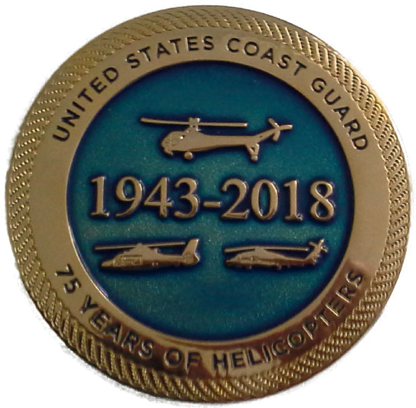 USCG 75 Years of Helicopters Challenge Coin