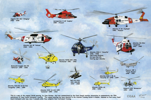 75 years of USCG Helicopter Print