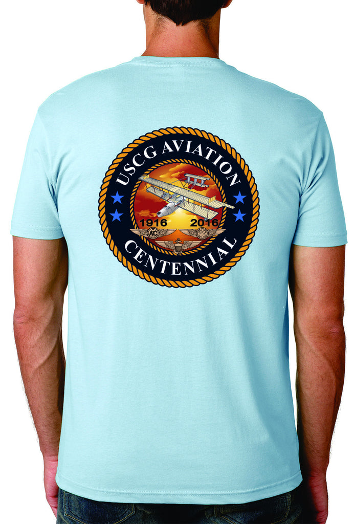 Centennial Roost Cotton T-shirt - Coast Guard Aviation
