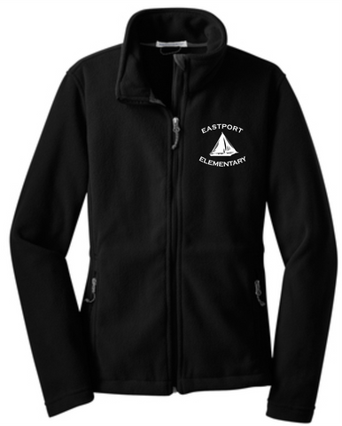 Ladies Fleece Jacket - Eastport Elementary