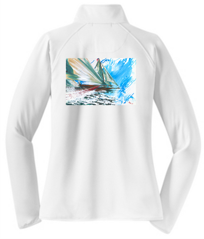 Ladies' Gill UV Zip Long Sleeve T-shirt