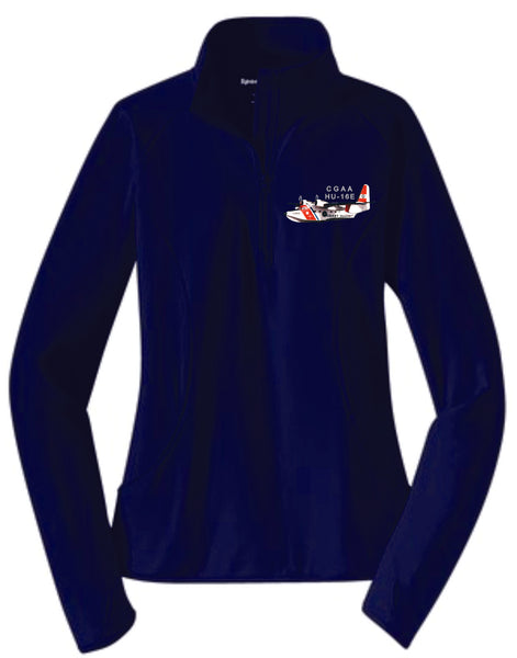 HU-16E Ladies 1/4 Zip Pullover