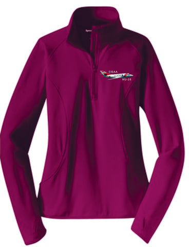 HU-25 Ladies 1/4 Zip Pullover
