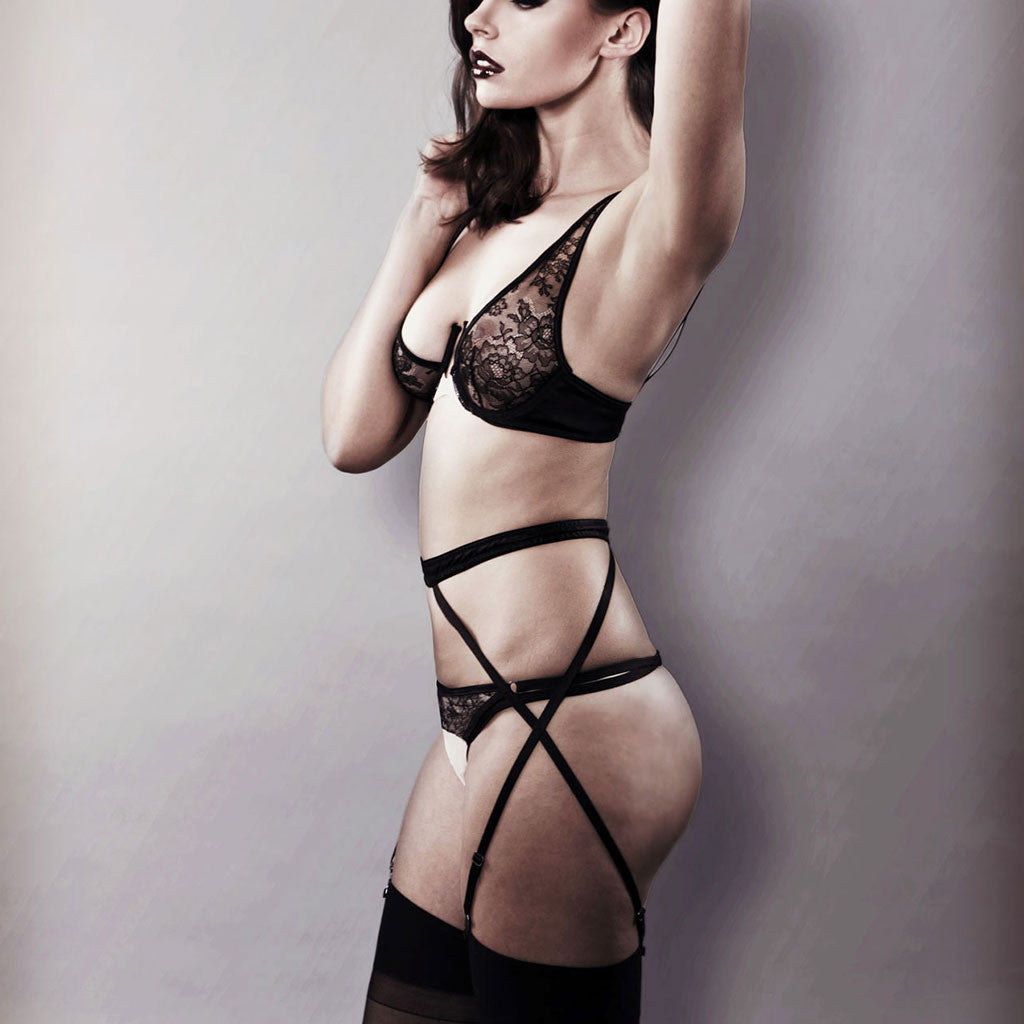 Double Crossed Suspender Belt