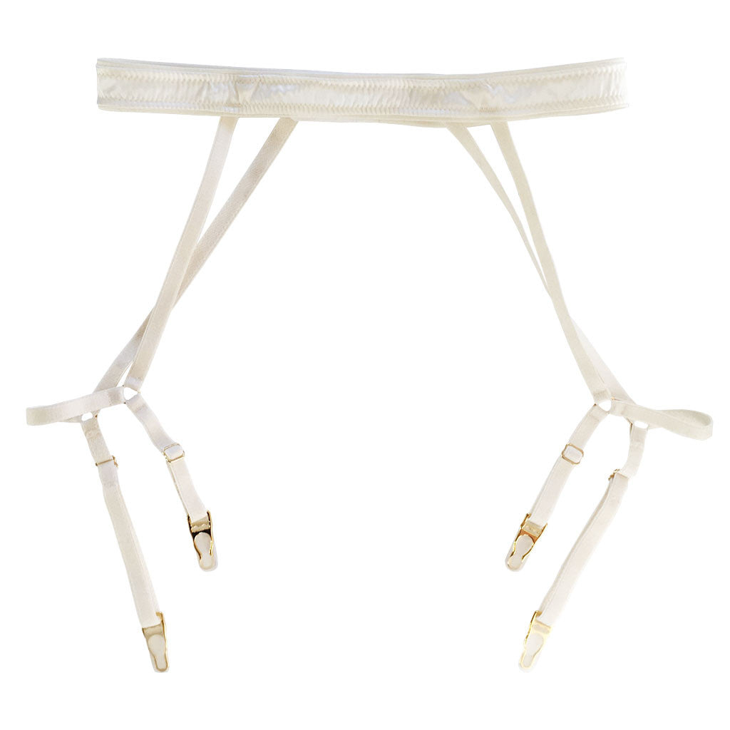 Caged Pearl Suspender Belt