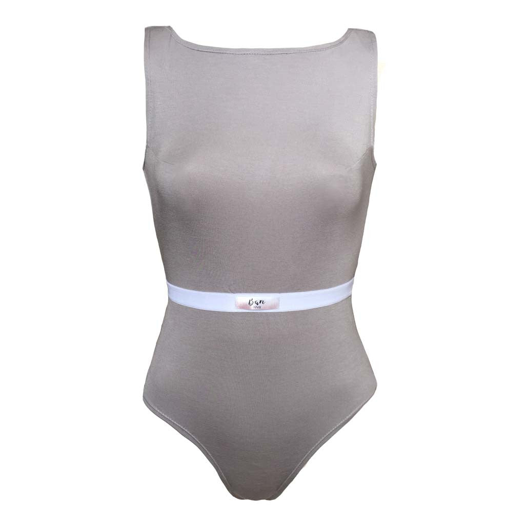 Bare Bamboo Beige Grey Emilie Body