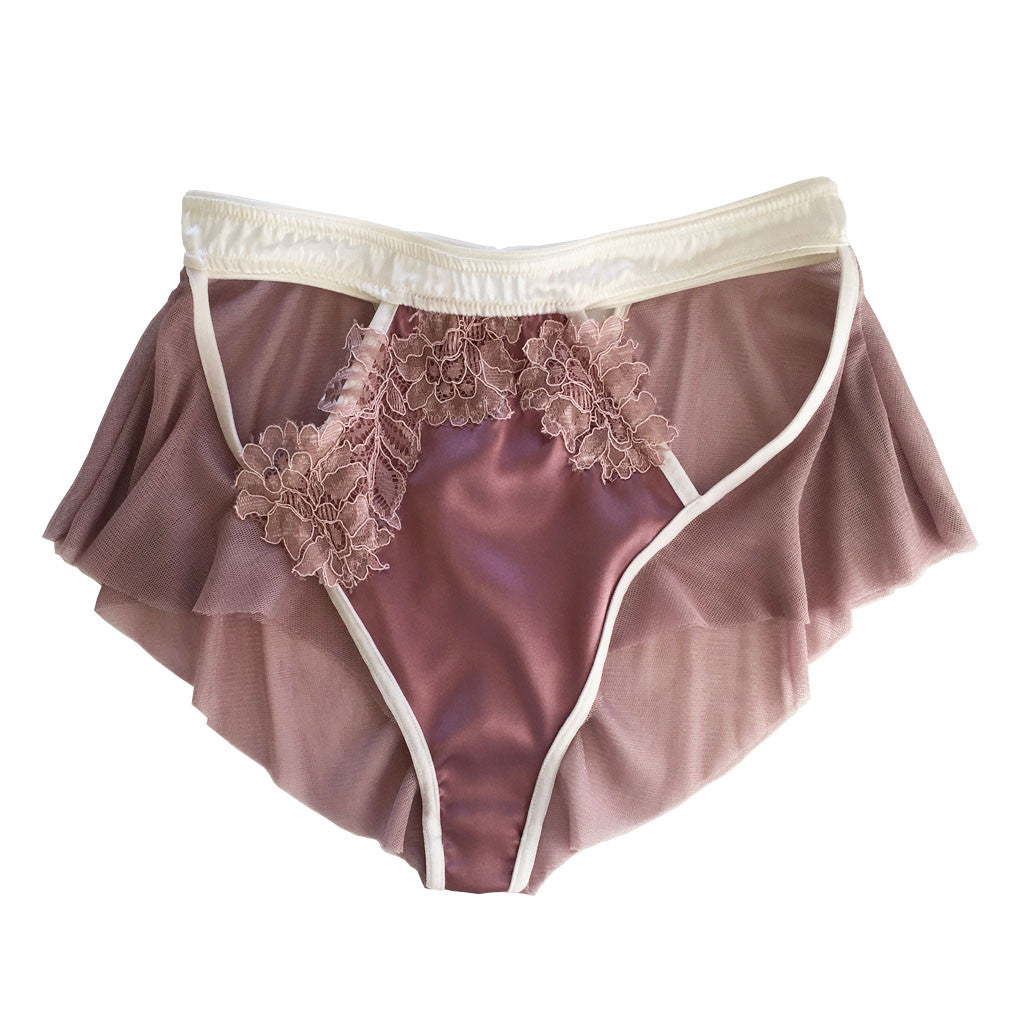 Limerence Silk Tulle Brief