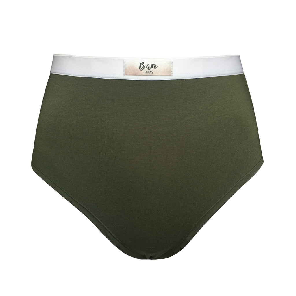 Bare Bamboo Khaki High Waisted Brief