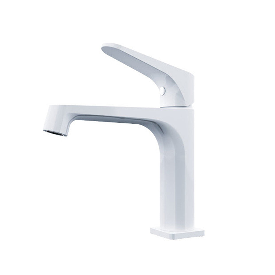 Fira  Shiny White Basin Mixer  2214-01