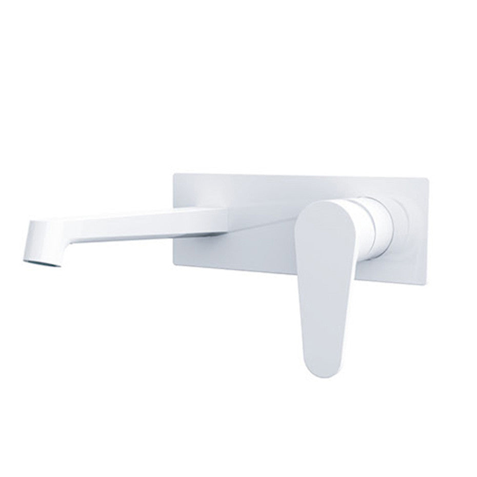 Fira   Shiny White Wall Mixer With Spout  2214-07A