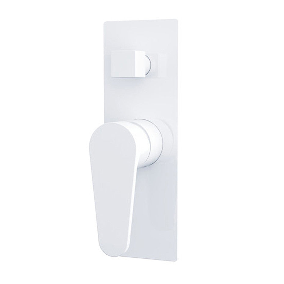 Fira  Shiny White Shower Mixer With Diverter 2214-09A