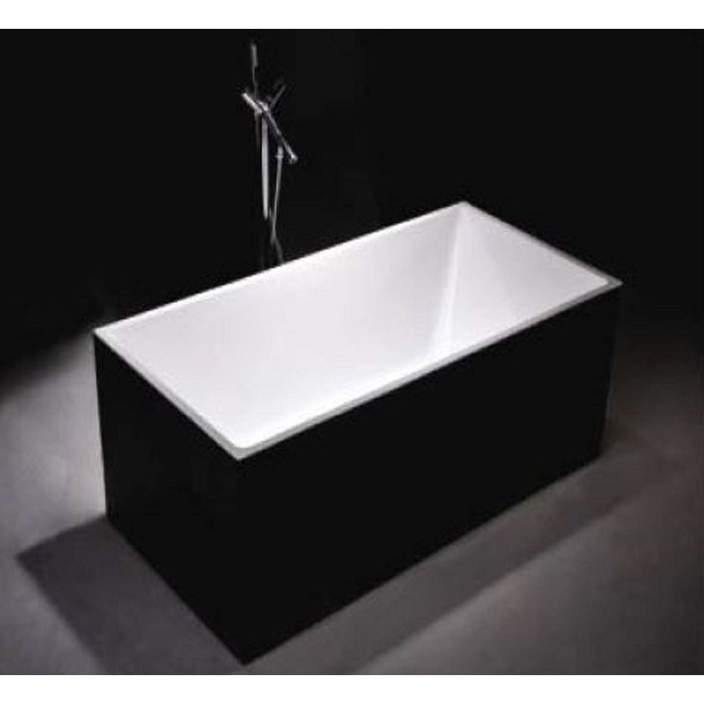1030B-1500 Black Four Square Straight Sided Freestanding Bath
