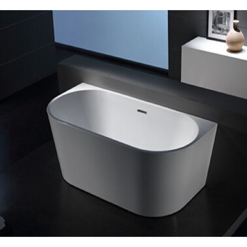1058-1500 Curved Shape Back to Wall Freestanding Bath
