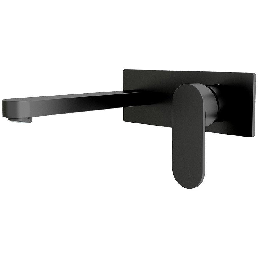 Loof Black Wall Mixer & Spout