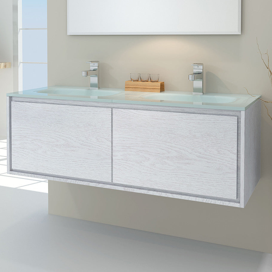 Linear Vanity 1200 Double Basin
