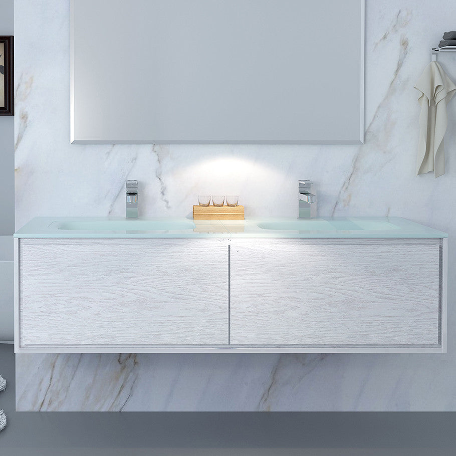 Linear Vanity 1500 Double Basin