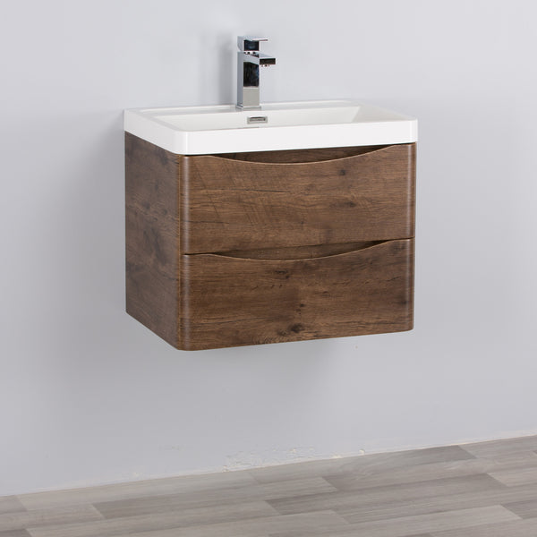 SMILE VANITY WALL HUNG ROSEWOOD (600/800/ 900mm)