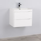 SMILE VANITY WALL HUNG GLOSS WHITE (600/800/900 mm)