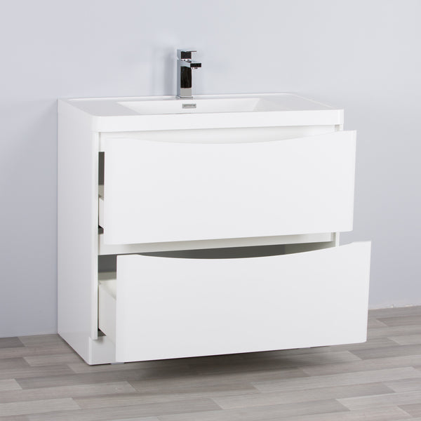 SMILE VANITY FLOOR MOUNTED WHITE GLOSS (800/900/1200 mm)