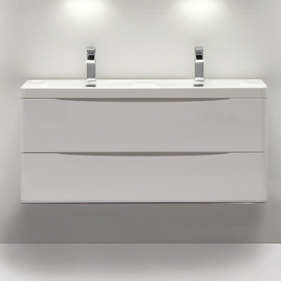 SMILE DOUBLE BASIN WALL HUNG VANITY 1200mm