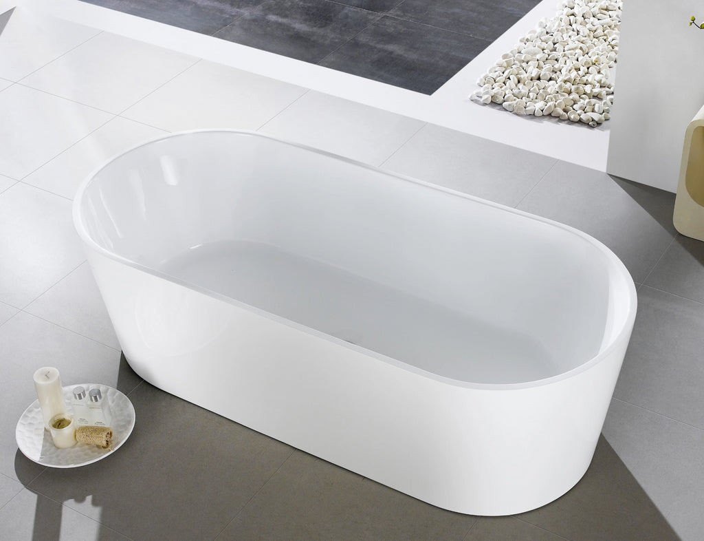1014-1700 Free Standing Oval Shape Bathtub