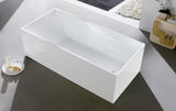 1030-1500 Four Square Straight Sided Freestanding Bath
