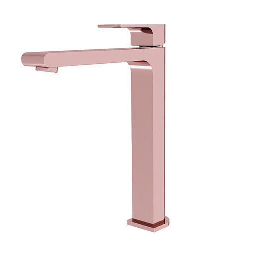 Rose Gold Tall Basin Mixer 3215-01a
