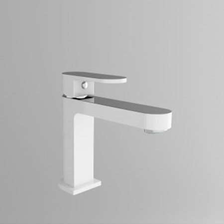 Chrome White Basin Mixer 3013-01