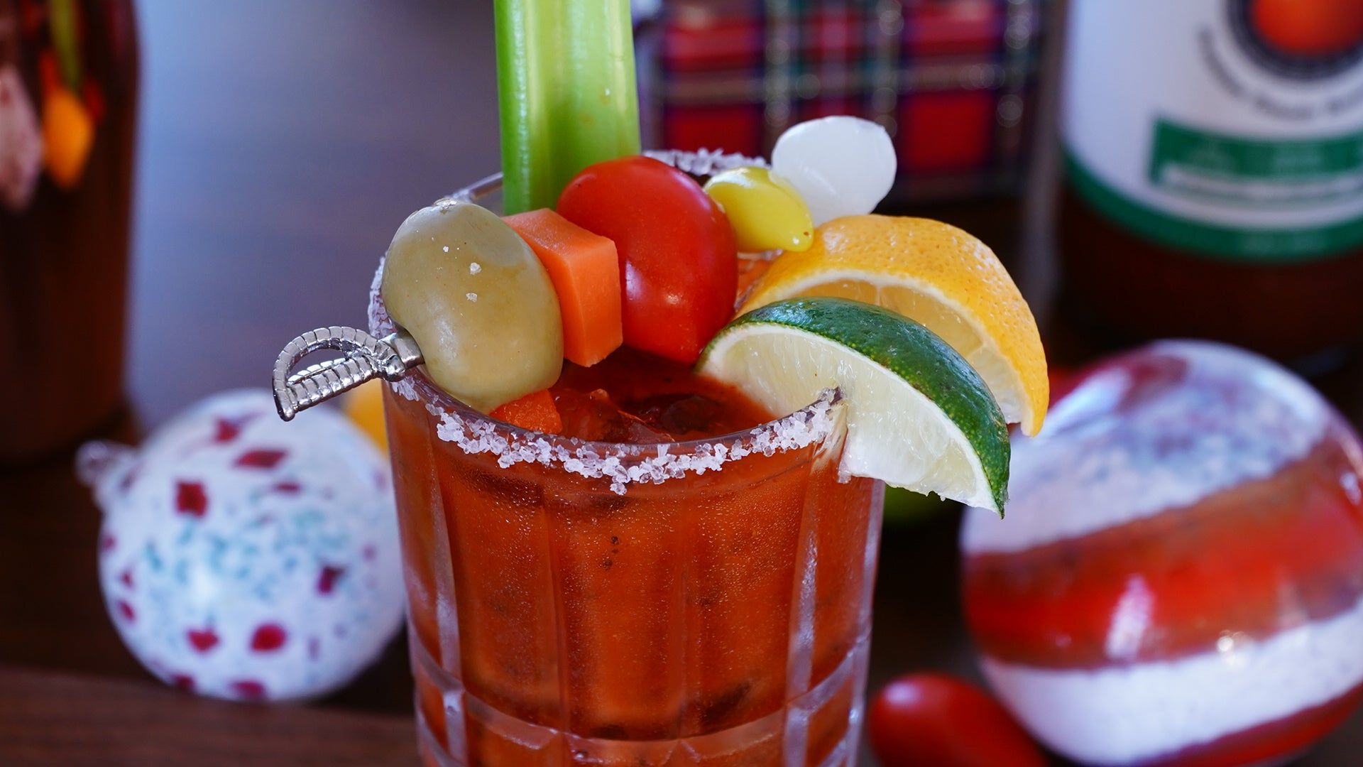 Multi-Color Holiday Bloody Mary Recipe