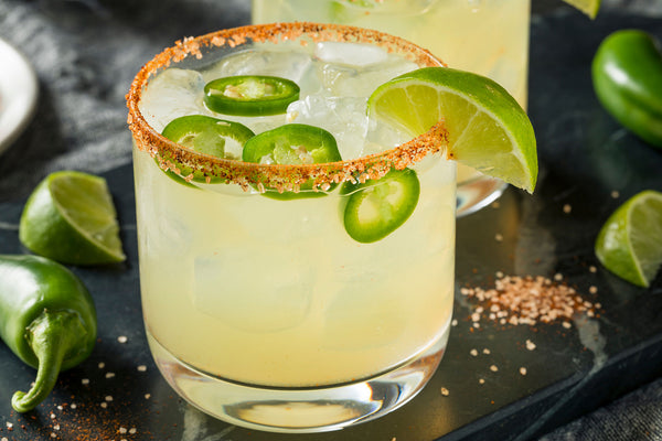Spicy Topo Chico Lime Margarita Mocktail