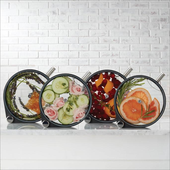 frontgate porthole infuser infusion for spirits vodka, gin, rum, whisky, tequila