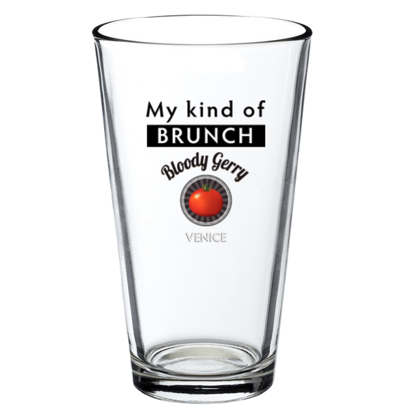 Bloody Gerry My Kind of Brunch Pint Glass